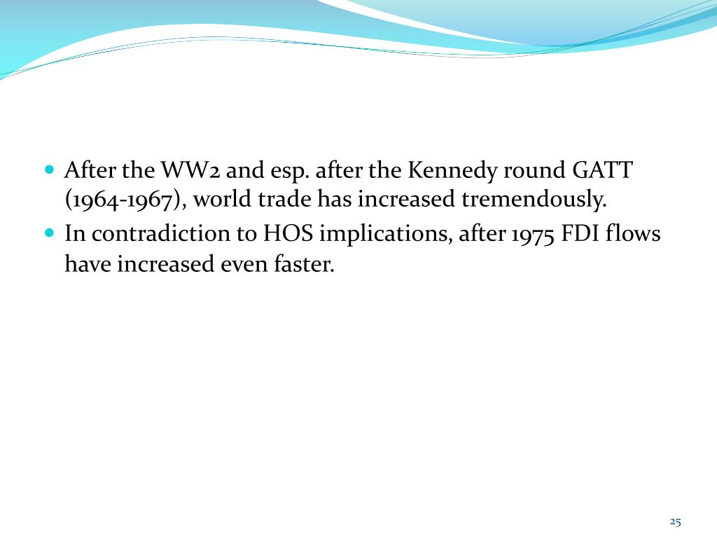 After the WW2 and esp. after the Kennedy round GATT (1964-1967), world trade has increased tremendously.