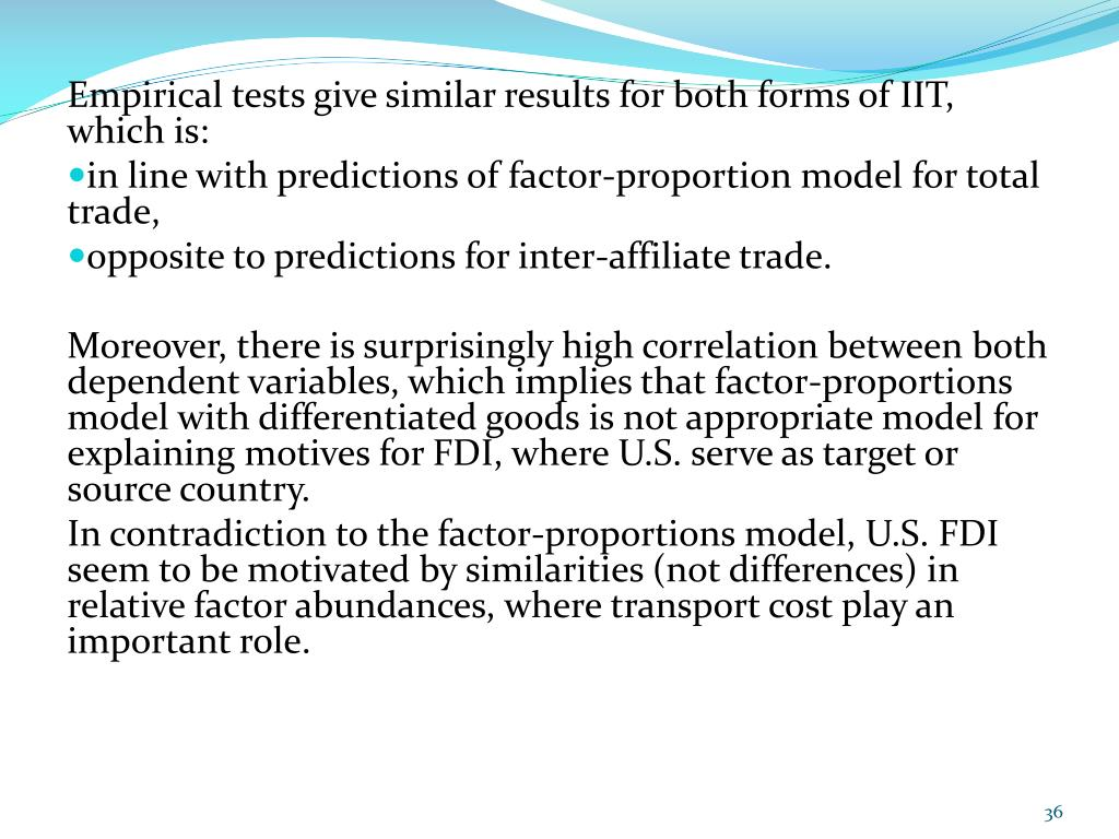 Empirical tests give similar results for both forms of IIT, which is: