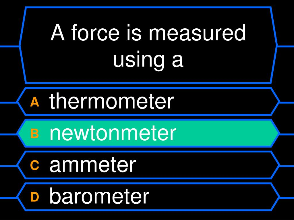 A force is measured using a