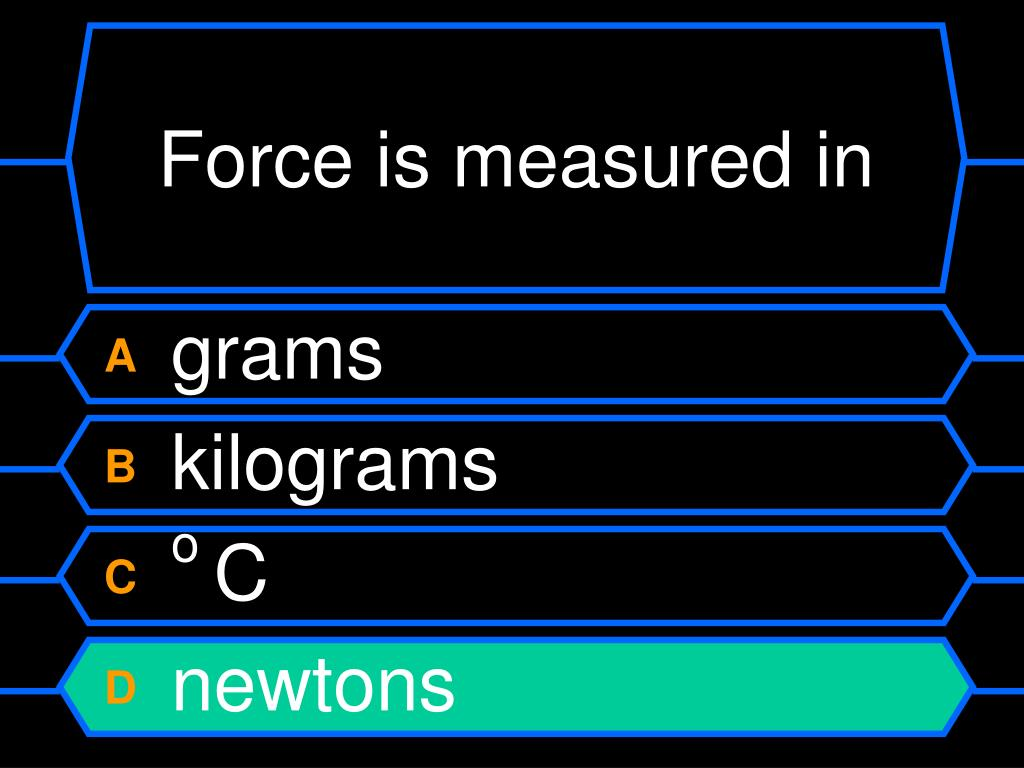 Force is measured in