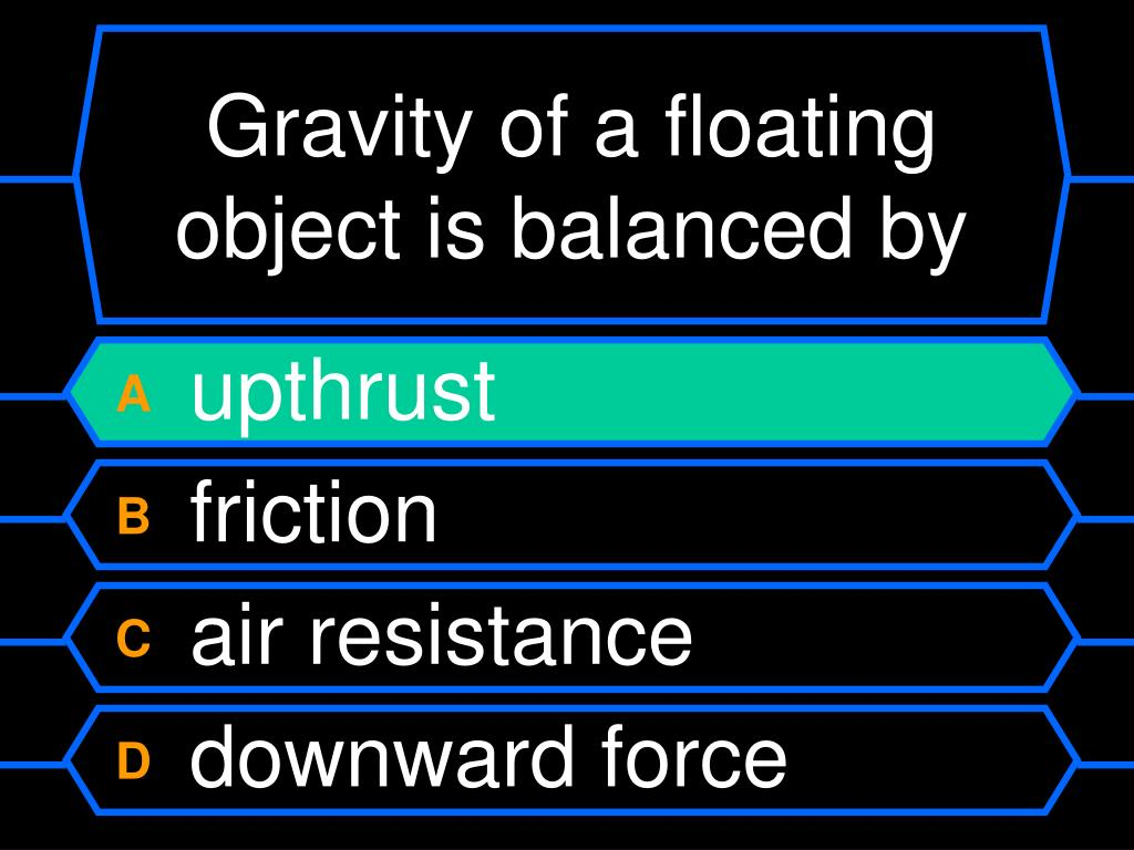 Gravity of a floating object is balanced by