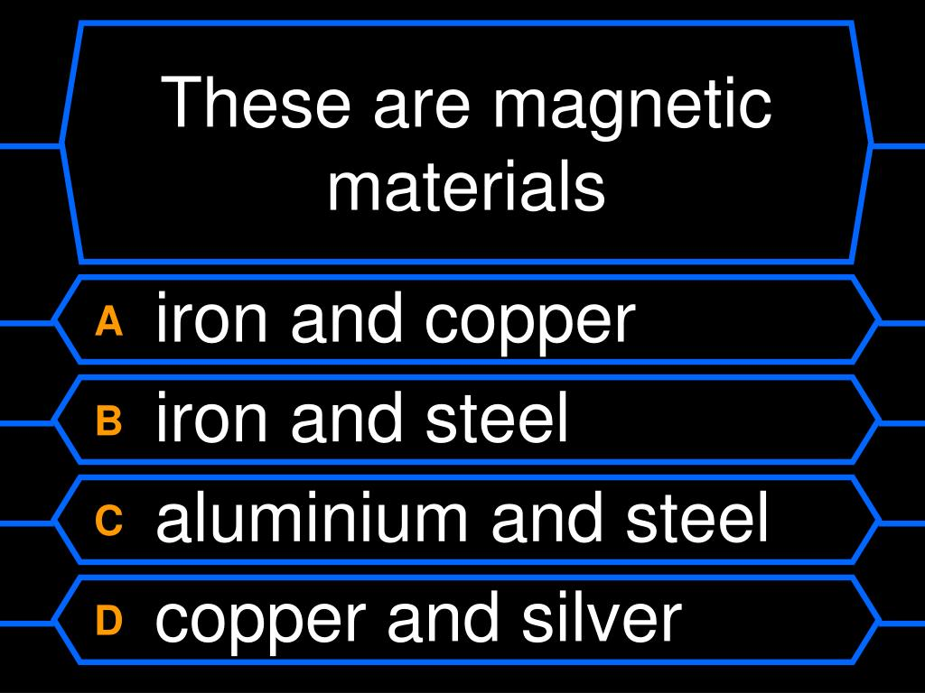 These are magnetic materials