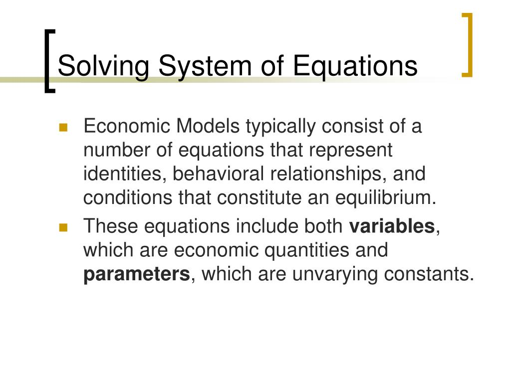 Solving System of Equations
