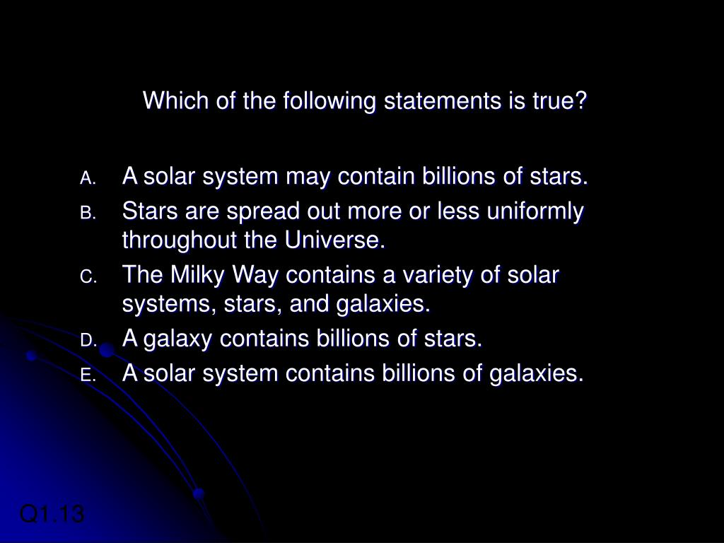 Which of the following statements is true?