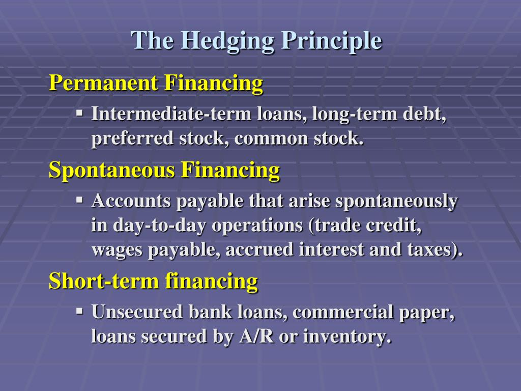 The Hedging Principle