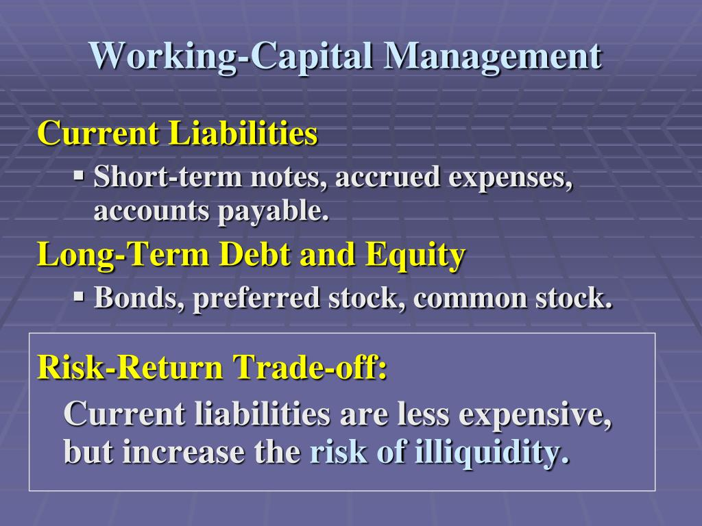 Working-Capital Management