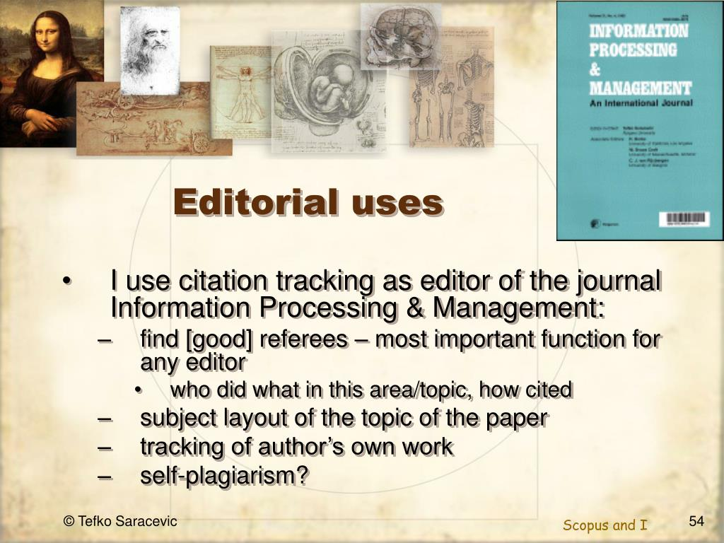 Editorial uses