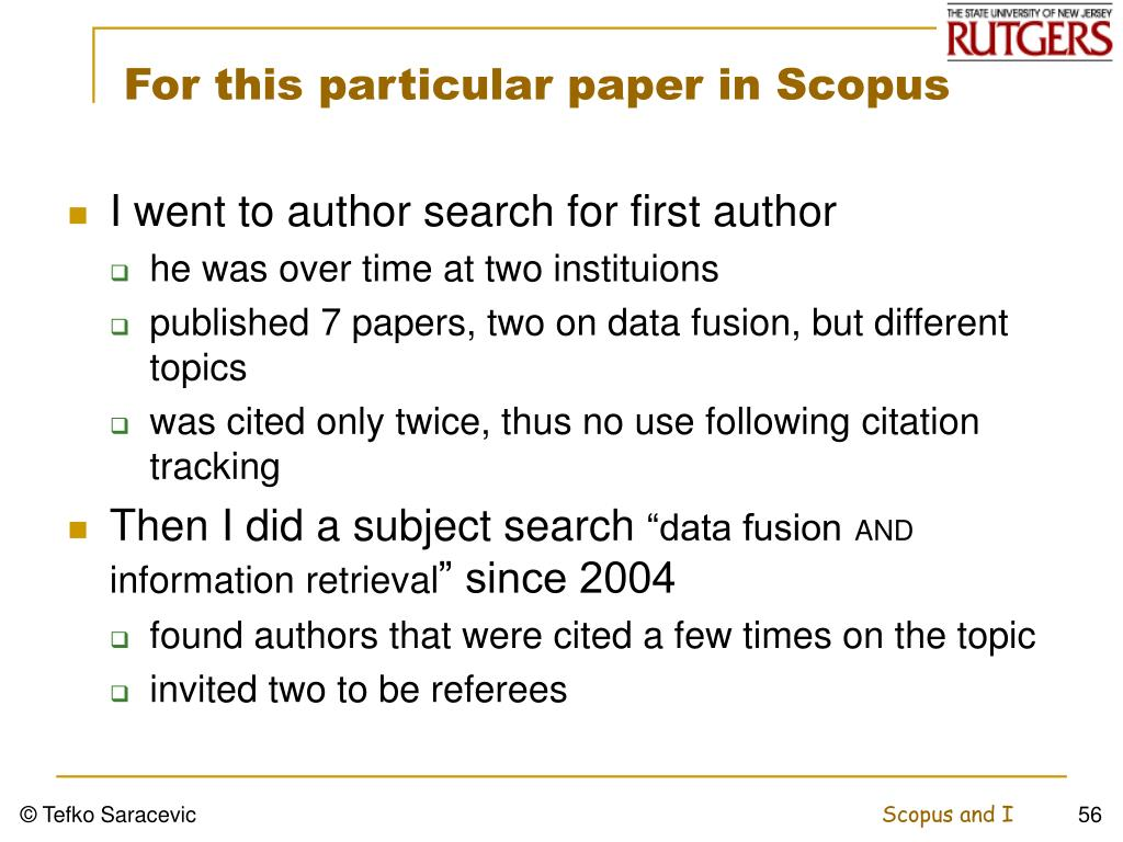 For this particular paper in Scopus