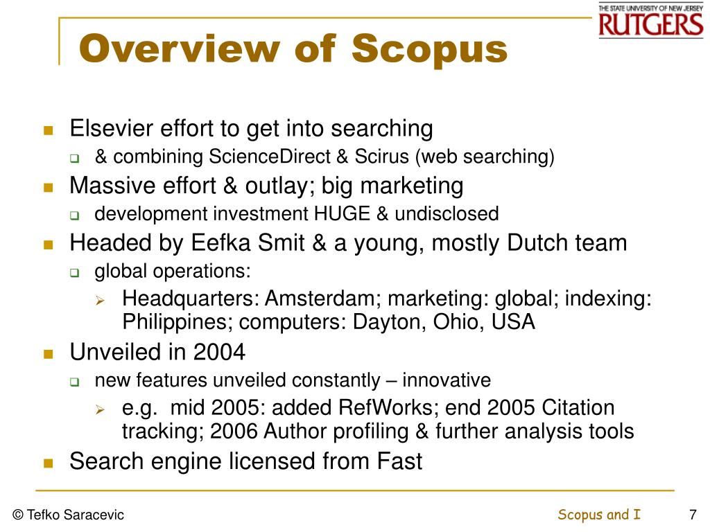 Overview of Scopus