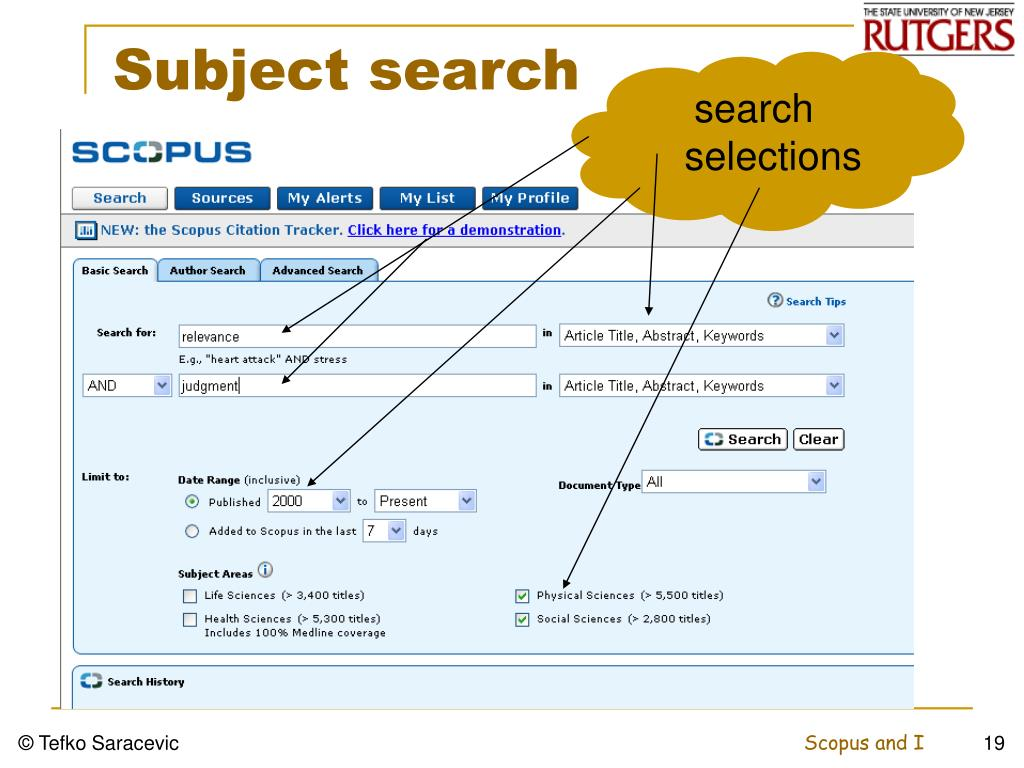 Subject search