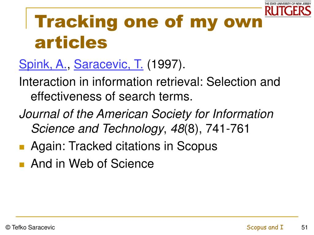 Tracking one of my own articles