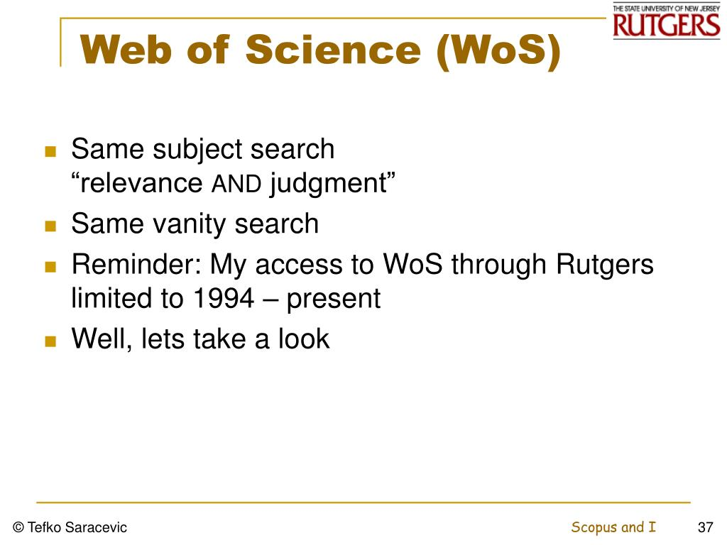 Web of Science (WoS)
