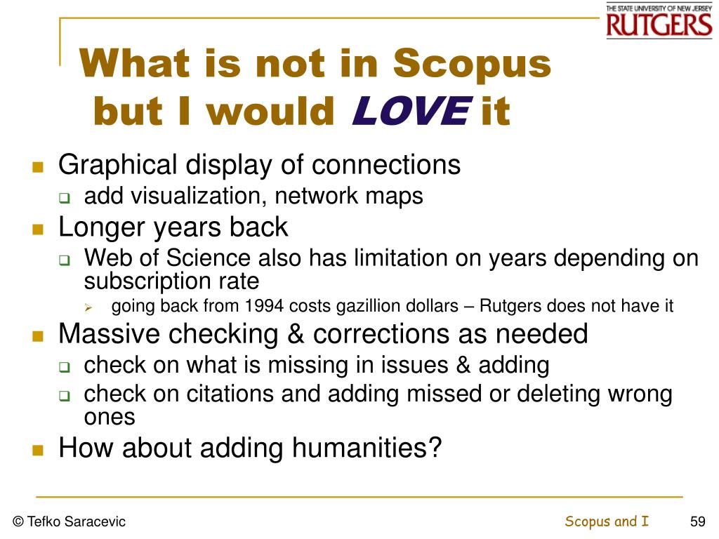 What is not in Scopus