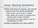 issue naming semantics