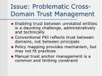 issue problematic cross domain trust management