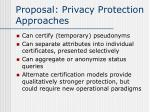 proposal privacy protection approaches