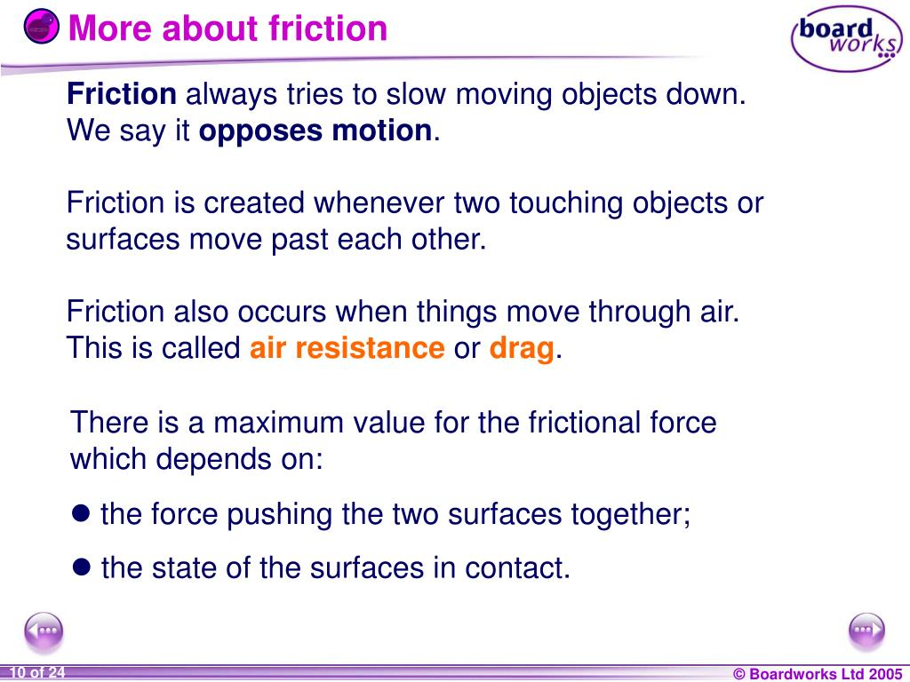 More about friction