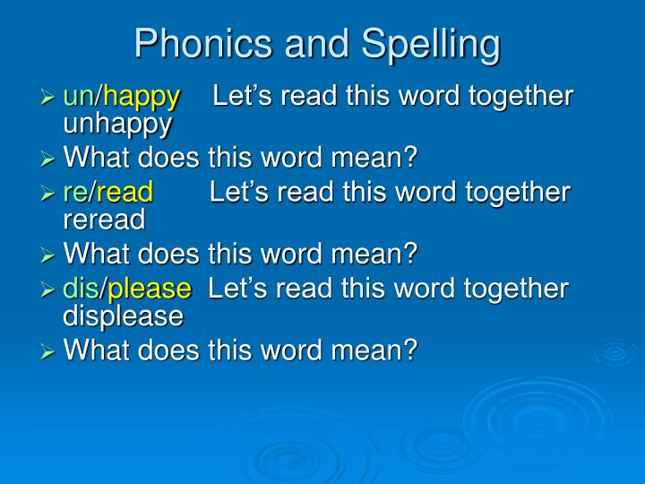 Phonics and spelling3