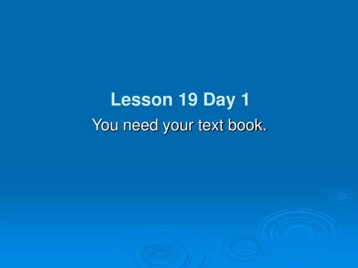 You need your text book