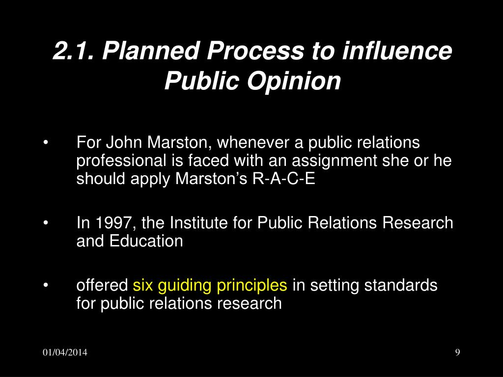 2.1. Planned Process to influence Public Opinion