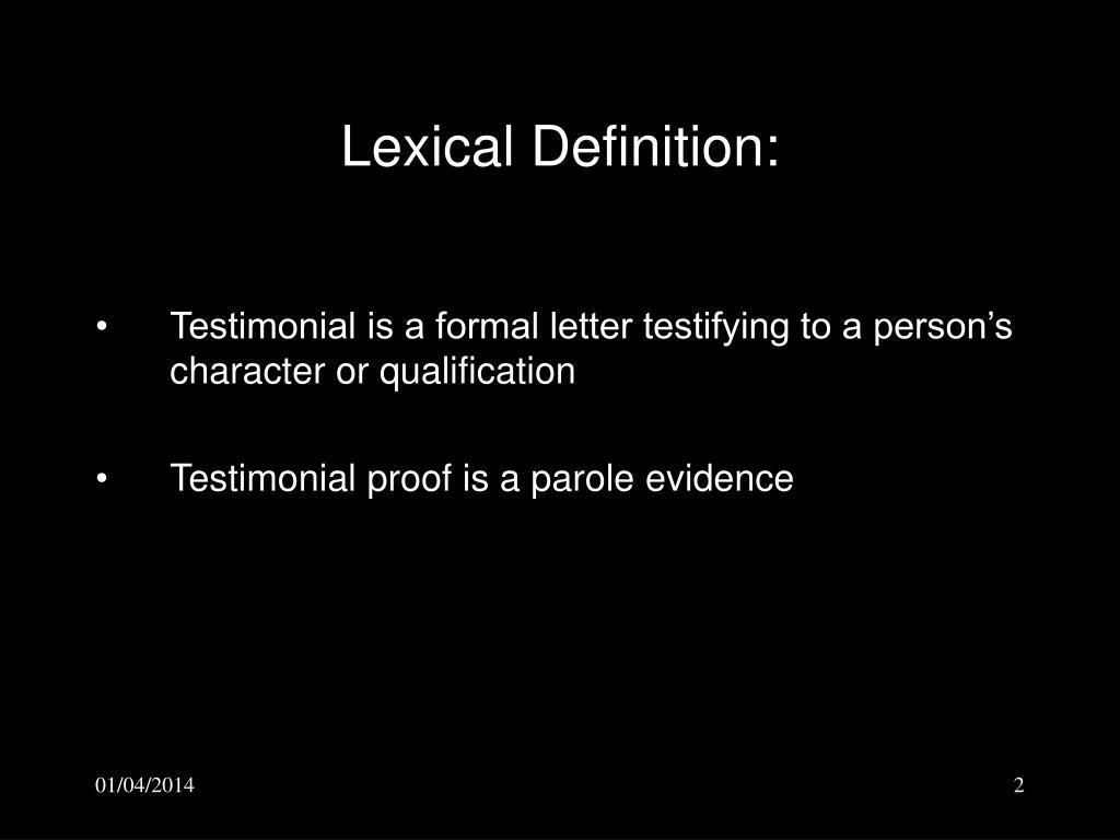 Lexical Definition: