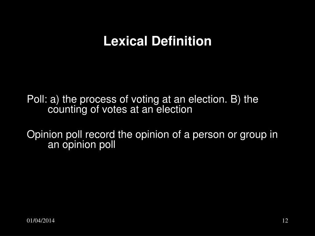 Lexical Definition