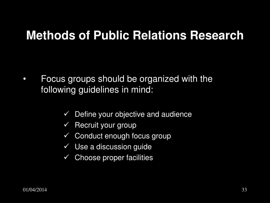 Methods of Public Relations Research