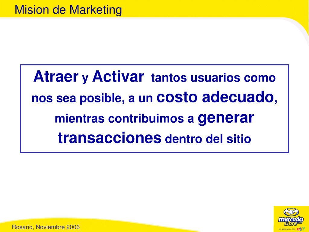 Mision de Marketing