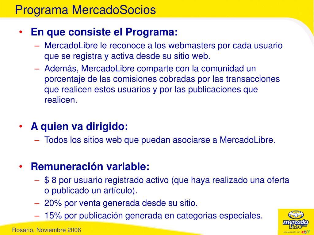 Programa MercadoSocios