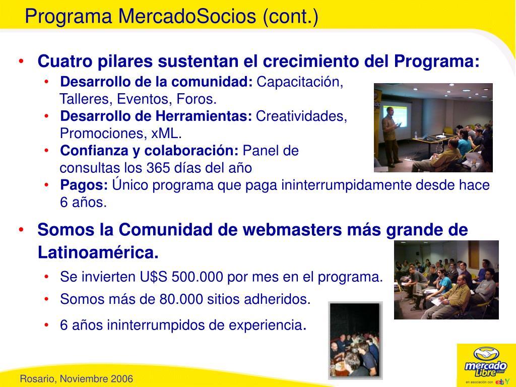 Programa MercadoSocios (cont.)