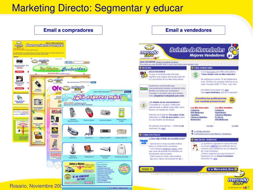 Marketing Directo: Segmentar y educar