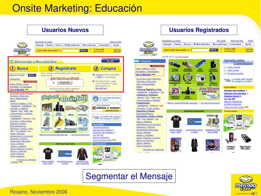 Onsite Marketing: Educación