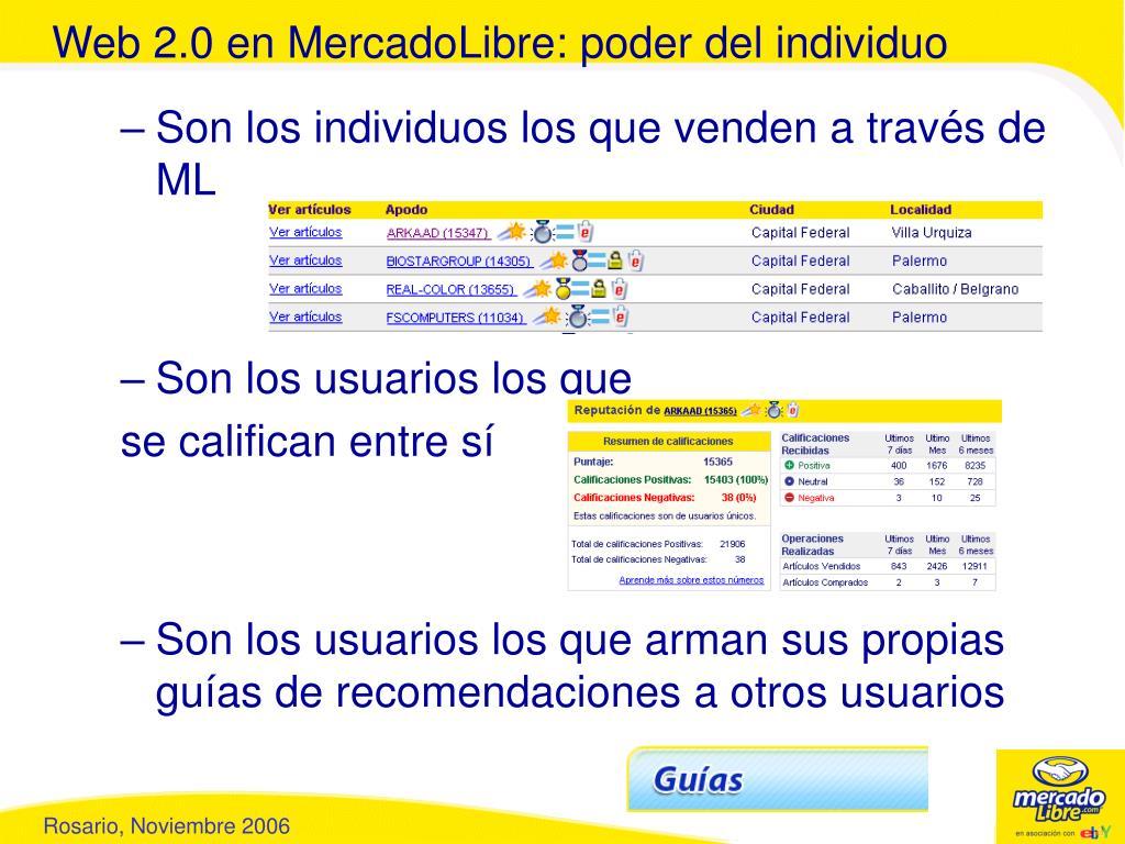 Web 2.0 en MercadoLibre: poder del individuo
