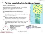 particle model of solids liquids and gases