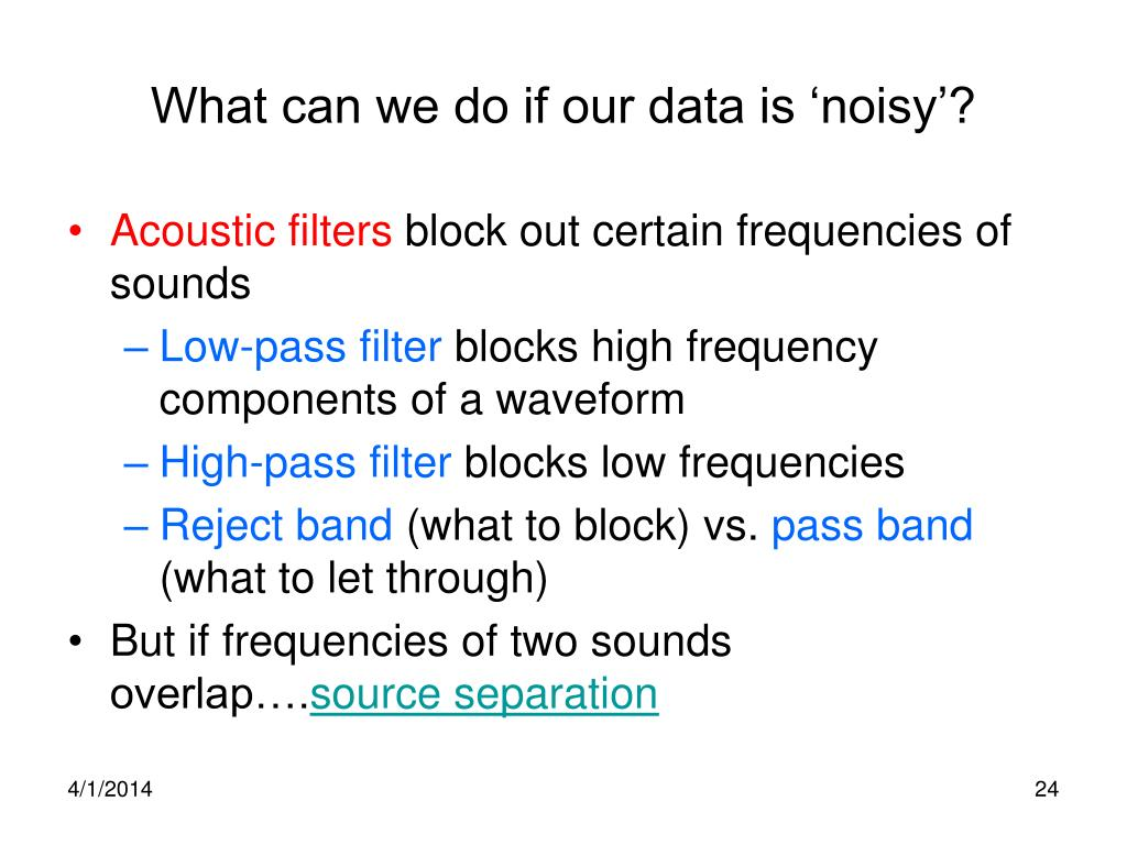 What can we do if our data is 'noisy'?