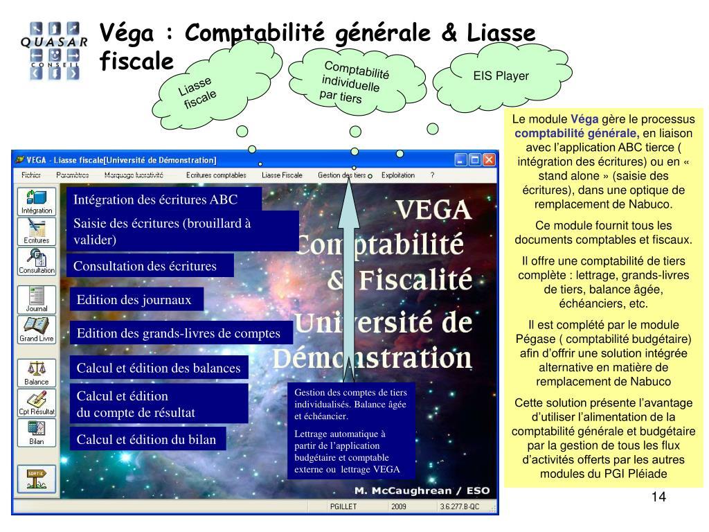 Véga : Comptabilité générale & Liasse fiscale