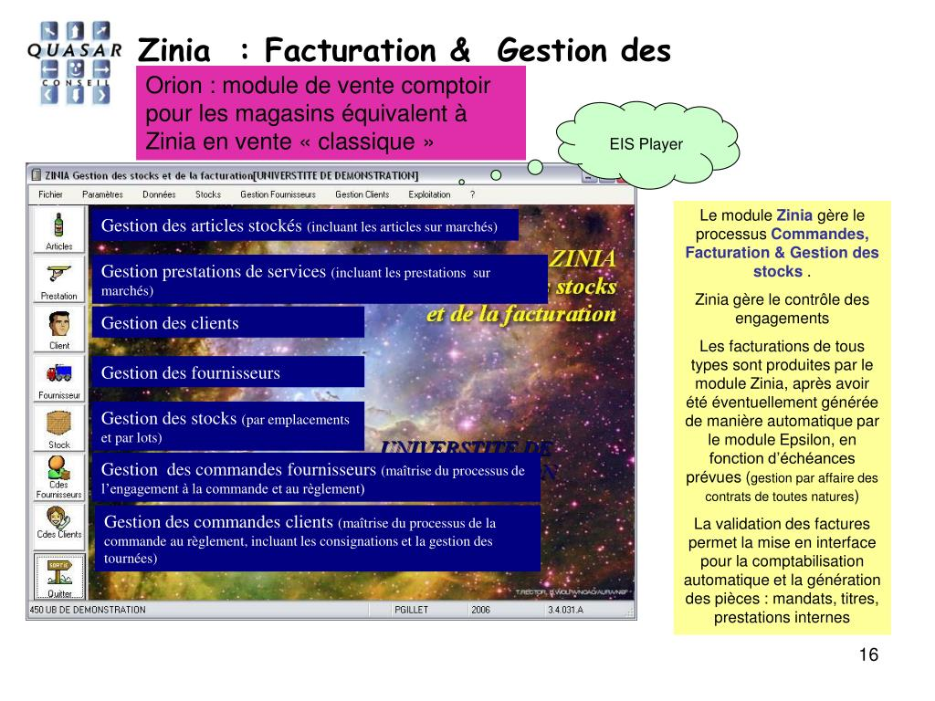 Zinia  : Facturation &  Gestion des stocks