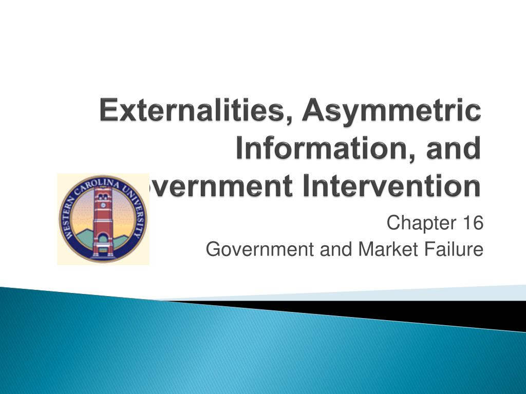 externalities asymmetric information and government intervention