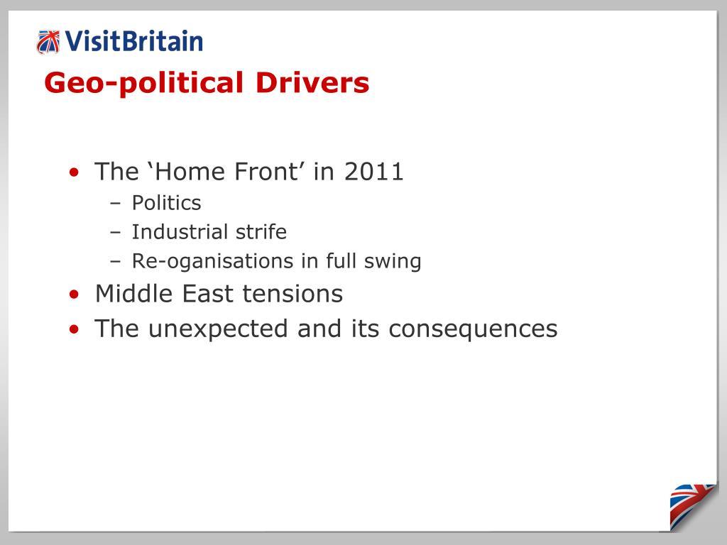 Geo-political Drivers