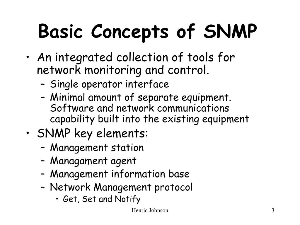 Basic Concepts of SNMP