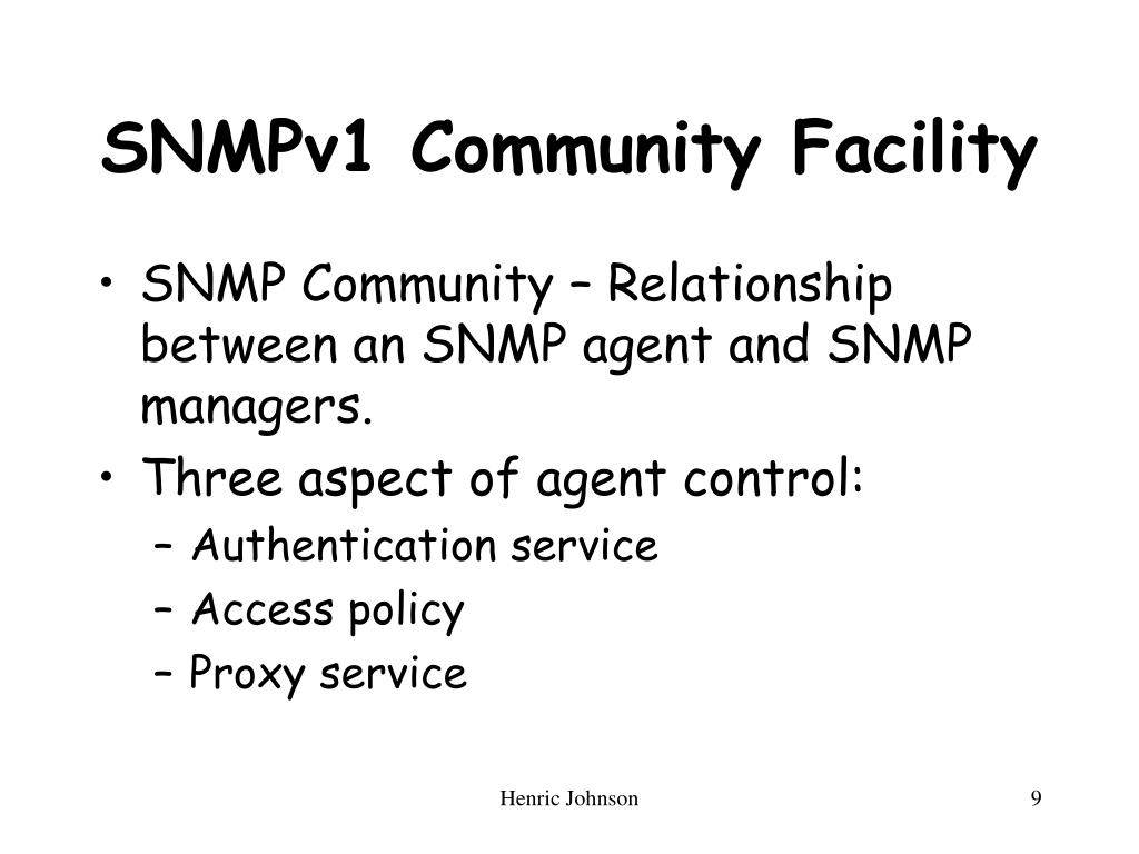 SNMPv1 Community Facility