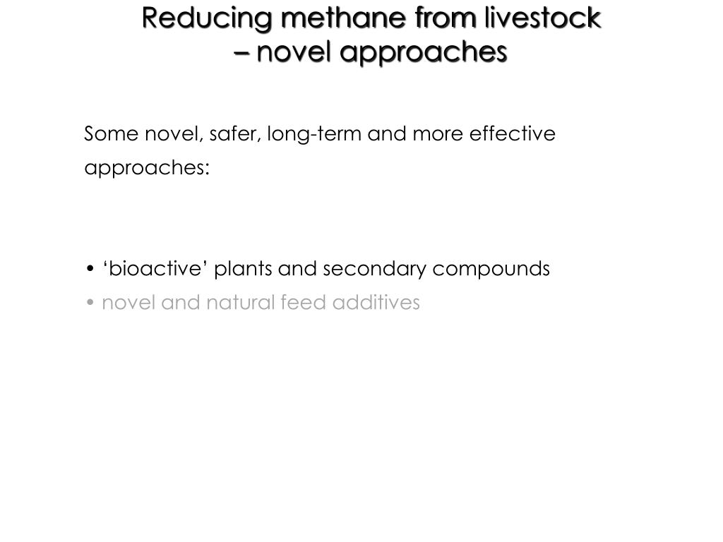 Reducing methane from