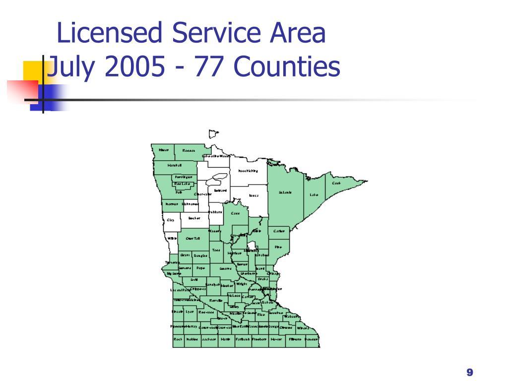 Licensed Service Area