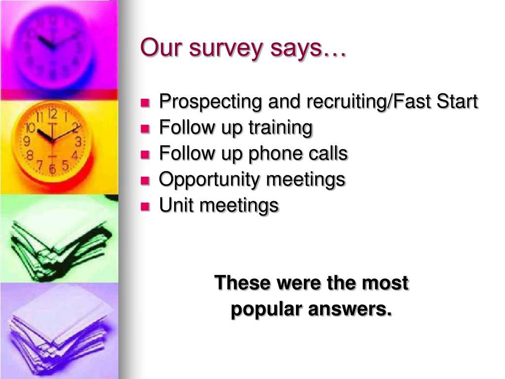 Our survey says…