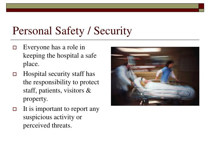 Personal Safety / Security