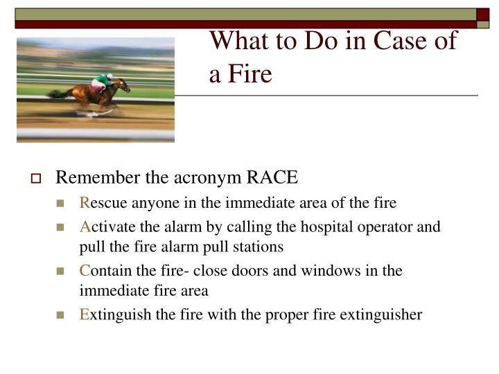 What to Do in Case of a Fire