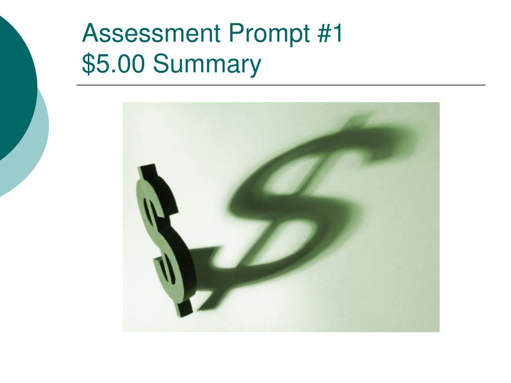 Assessment Prompt #1