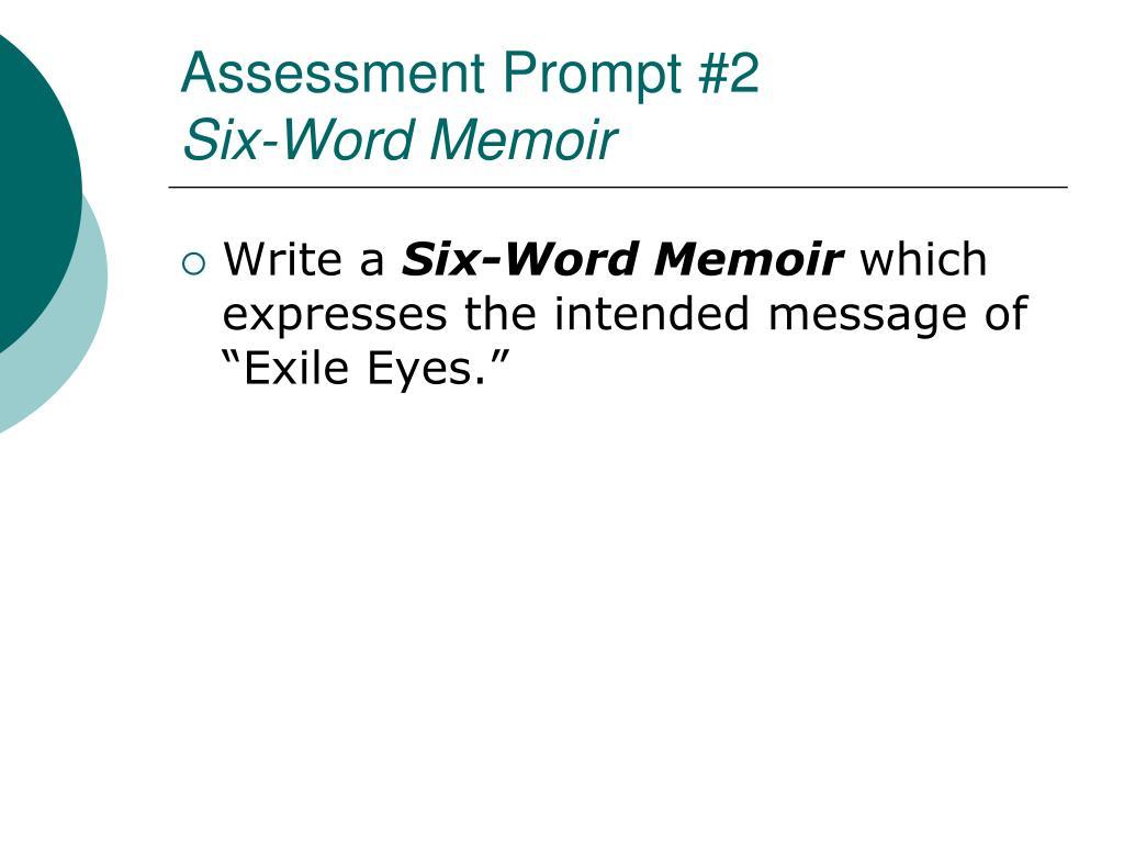 Assessment Prompt #2