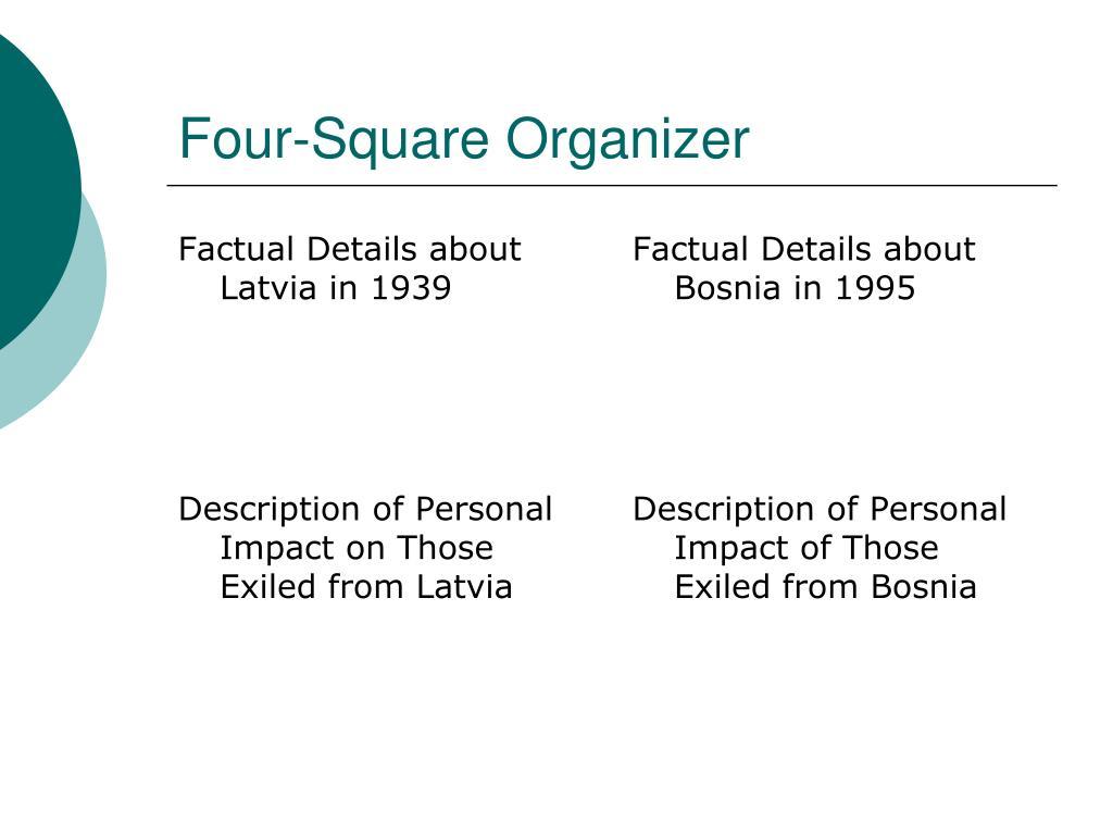 Four-Square Organizer