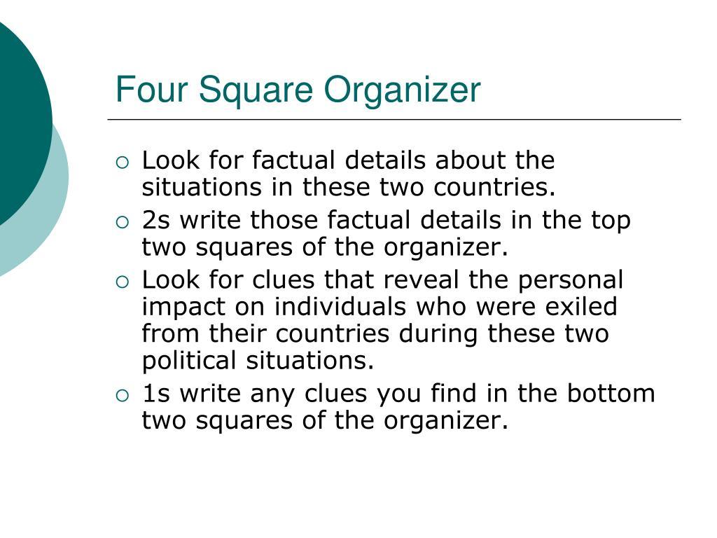 Four Square Organizer